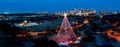 Austin, Aerial, Zilker Christmas Tree, Austin skyline, downtown, pano, panorama, holiday season, trail of lights,