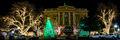georgetown texas christmas, georgetown, texas, christmas, downtown, city, , christmas lights, holiday decorations, square, town square,  night, texas christmas, panorama, pano,
