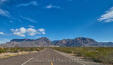 Chiso mountains, Road, big bend, blue sky, clouds, landscape, ross maxwell Scenic Drive, window view, desert landscape, big bend national park
