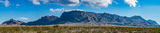 Chiso mountain, landscape, pano, panorama, big bend national park, usa, texas, clouds, blue sky