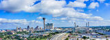Alamo Dome, Hemisphere, San Antonio, Tower of Americas, aerial, cityscape, cityscapes, downtown, high-rise, hotels, panorama, skylines, drone