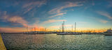 Corpus Christi, Sunrise, Texas Coast, bay, blue, boats, coastal, gulf, marina, ocean, oranges, pano, panorama, pinks, sailboats, sea, sea wall, seascape, seascapes, seashore, texas seashore, whispy cl