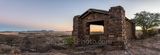 Davis Mountain Overlook, panorama, pano, sunset, colors, rock building, Texas landscape, mountain, Davis Mountain State Park, west texas, texan, usa, united states, america, Fort Davis