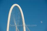 Dallas, moon, Margaret Hunt Hill Bridge,  downtown, downtown dallas, dallas texas, city of dallas, dfw, horizontal, moon,