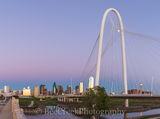 Bridge, Dallas, skyline, Margaret Hunt Hill, Trinity river, blue, blue hour, city, cityscape, cityscapes, downtown, moon, pinks, purple, skycrapers, skylines