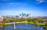 Bridge, Dallas, city, cityscape, cityscapes, fountain, park, skyline, water, aerial
