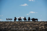 Fort Stockton, horses, indians, metal art, welcoming sign, west texas