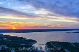 Austin, Lake Travis, aerial, boat, clouds, colors, glow, landscape, heavenly, orange, radiated, rays, scenic, spectactular, sunset