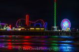 Fun Pier, Galveston, Pleasure Pier, amusement park, beach, city, coast, family entertainment, island, night, party, seascape, tourist, water, gulf cost images, Texas beaches