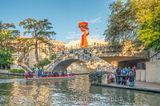 San Antonio, Torch of Friendship, boat, cities, city, cityscape, downtown, image, scenic, skyline, tourist, River Walk San Antonio