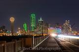 Dallas, road to dallas, downtown, city, road, skyline, cityscape, Reuion Tower, Omni, Bank of America