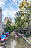River Boat, River Walk, San Antonio, tall, vertical, city, cityscape, clouds, downtown, restaurant, restaurnts, sky