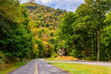 Standing Rock overlook, Blue Ridge parkway, blue ridge mountains, fall colors, Waynesville, Smoky mountains, road, rock, autumn