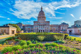 Austin, Capital, Capitol, Texas Capital, Texas Capitol, blue skies, cityscape, clouds, downtown, grounds, state capital, texas