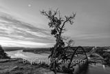 Texas, Austin 360 Bridge, sunrise, Pennybacker bridge, Austin, Lake Austin, black and white, bw, landmark, loop 360, austin texas, texas hill country, tourist, photo