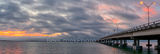 Queen Isabella Causeway, South Padre Island, sunset, fishing, pier, Laguna Madre, bridge, padre island, texas, pano, panorama, Queen Isabella Memorial Causeway