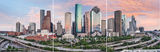Houston, skyline, split panel images, triptych, mulitple images