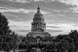 Texas Capitol Sunrise BW