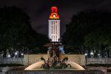 UT, Littlefield Fountain, night, UT Tower, burnt orange, campus,, downtown, Austin, water, fountain, flowing, WW1 memorial, football