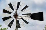 Abstract Black and White Windmill