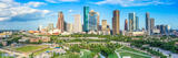 Houston skyline, aerial, skyline, cityscape, pano,  houston, H-town, cityscapes, city, park,  downtown, skyscrapers, bayou, green, Eleanor tinsley Park, Jamail Skate Park, drone, landscape, photograph