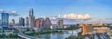 Austin, aerial, Pano, Panorama, skylines, city, downtown, cityscapes, aerial, Congress Ave.bridge, First Street, bridge, Austin City Hall, W Hotel, Colorado building, Marriott, Hyatt, Lady Bird Lake