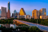 austin, texas, austin downtown, austin texas, austin skyline twilight, twilight, congress bridge, downtown austin, austin skyline, lady bird lake, golden glow, violet, pink, blue hour, congress, town