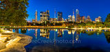 Austin, skyline, city, Long Center, downtown, pool, reflection, reflects, night, park, cityscape, Frost Bank, buildings, Austonian, W Hotel, 360 Condos, panorama, pano,panos