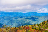 Fall, Smoky Mountain, Scenery, scenic, Mountain, blue ridge mountains, blue ridge parkway, haze, Fall, Scenery, Pano, vista, panorama, scenic, blue ridge parkway, fall, autumn, colors, yellow, reds, o