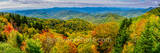 Blueridge Parkway, Fall, autumn, fall, smoky mountains, hillsides, yellow, reds, oranges, forest, pano, panorama, mountains, north carolina, nc, pano, panorama