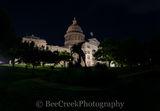 Austin, Texas Capital, Texas Capital, cowboy, horse, rider, pano, panorama, night