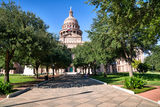 Austin, Texas Capitol, cityscape, downtown, city, State Capitol building, walk way, Texas State Capitol, state Capitol, Capitol of Texas, blue sky, Great walk, tourist, history, historic, trees, green