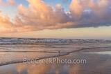 Colorful Beach Scene on the Texas Coast