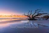 Colorful Sunrise at Driftwood Beach