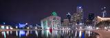 Dallas city hall, night, AT&T, City Hall, Comercia, Cotton Bowl, Dallas, Omni, architecture, bank of america, cities, city, cityscape, cityscapes, downtown, fountain, images of dallas,  pano, panorama