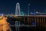 Dallas Pedestrian Bridge View Night