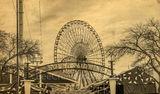 Dallas, Ferris wheel, Texas Star, Texas State Fair, amusement park, rides. museums, vintage, Fair Park, State fair, America, 1800, landmark,  music events, beer gardens, auto show, sepia