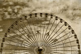 Dallas, Texas Star, aged, sepia, vintage, amusement park, rides, restaurnts, swan lake, Cotton bowl