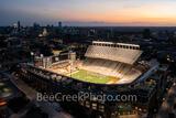 Darrell K Royal -Texas Memorial Stadium at Sunset Glow