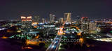 Fort Worth, Ft Worth, skyline, skylines, cityscape, cityscapes, downtown, night, seventh street bridge, 7th street, Trinity river, panorama, pano, Tarrant county, DFW Metro, downtown fort worth night,