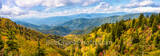 Great Smoky mountains, north carolina, appalichians, sunrise, sunset, tree, red, yellow, blue ridge parkway, blue ridge mountains, NC, scenic, autumn, red, yellow, vista, pano, panorama, rees, usa, ov