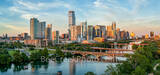 austin skyline, austin downtown, images of texas, Austin, pics of texas, lady bird lake, downtown, austin, lamar bridge, pfluger bridge, pedestrian bridge, ut tower, reflections, boats, sups