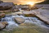 Golden Glow Sunset at Pedernales River