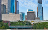 Houston, hard rock cafe, guitar, skyscrapers, city, cityscape, downtown, urban, red, Heritage Plaza, Wortham Theater, city hall, Theater district, buffalo bayou