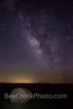 Hay Bale with Night Stars