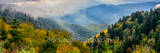 Smoky mountains, rays, fall foliage, autumn, clouds, sun rays, shine, forest, fog, blue ridge mountains, hills valleys, North Carolina, NC, Tenessee, TN, Applachian,Applachian mountains, blue ridge, m