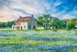 hill country bluebonnets, blue bonnets, bluebonnet, bluebonnets, dusk, bluebonnet house, farmhouse, flora, images of Texas, landscape, landscapes, scenic, spring, spring flowers, springtine, sunset, t
