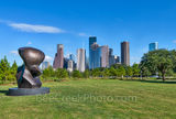 Houston Skyline, Art, Sculpture Henry Moore, Sculpture, Eleanor Tinsley Park, downtown