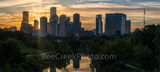 Houston skyline, sunrise, Buffalo Bayou,  golden, glow, pano, panorama, cityscape, city, downtown, sun rays, high rise buildings, parks, morning,  gulf of mexico