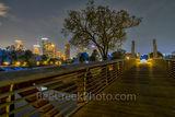 Houston Skyline Over Buffalo Bayou